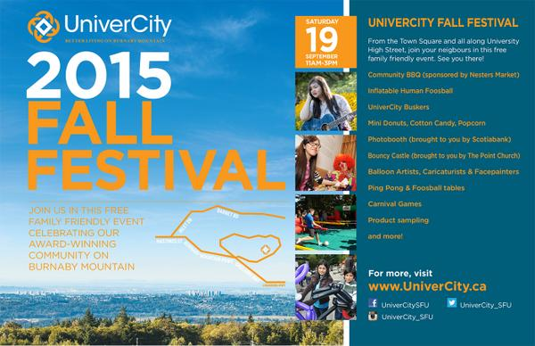 RT @UniverCity_SFU: Sat Sep 19 11am–3pm join us fo…