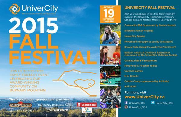 RT @UniverCity_SFU: UniverCity Fall Festival this…