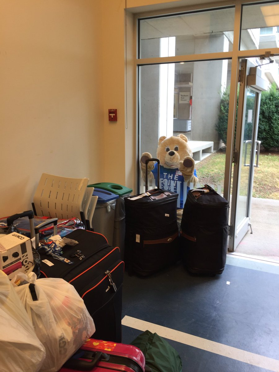 Spotted the bear keeping an eye on luggage at #sfu…